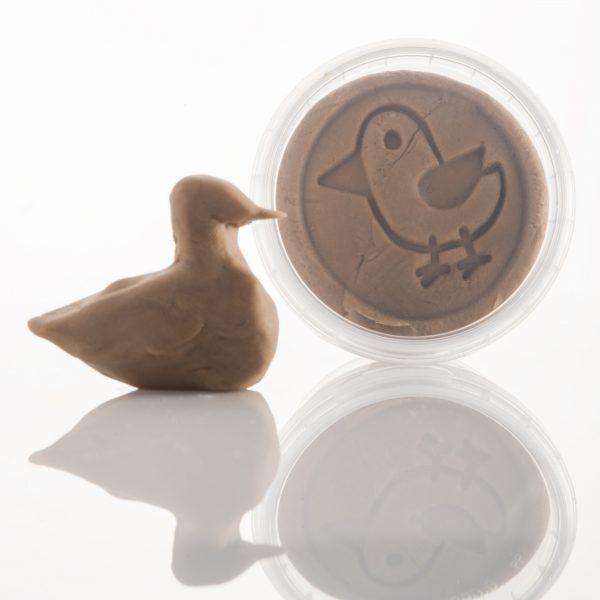 ailefo økologisk modellervoks lille refill bøtte, brun